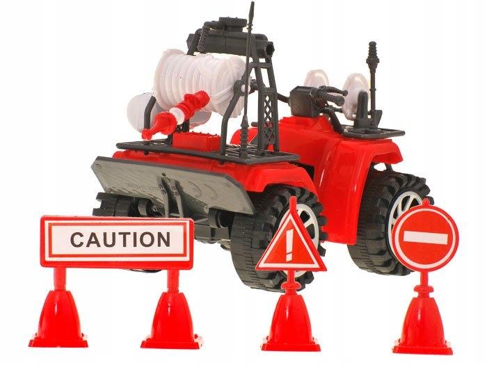 Duża Straż Pożarna Auto Kask quad strażacy ZA1158 Płeć Chłopcy