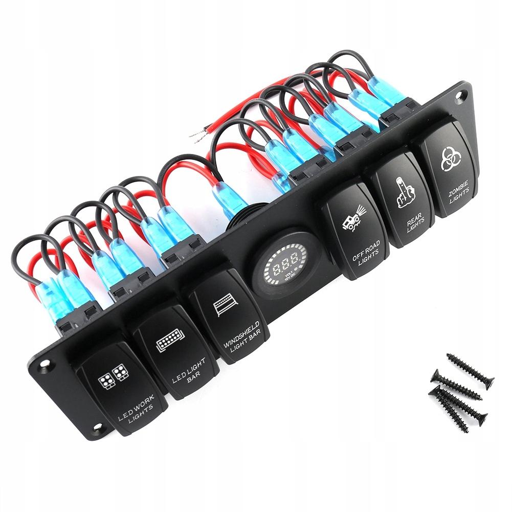 6gang панель переключателей к автомобилей dc12-24v