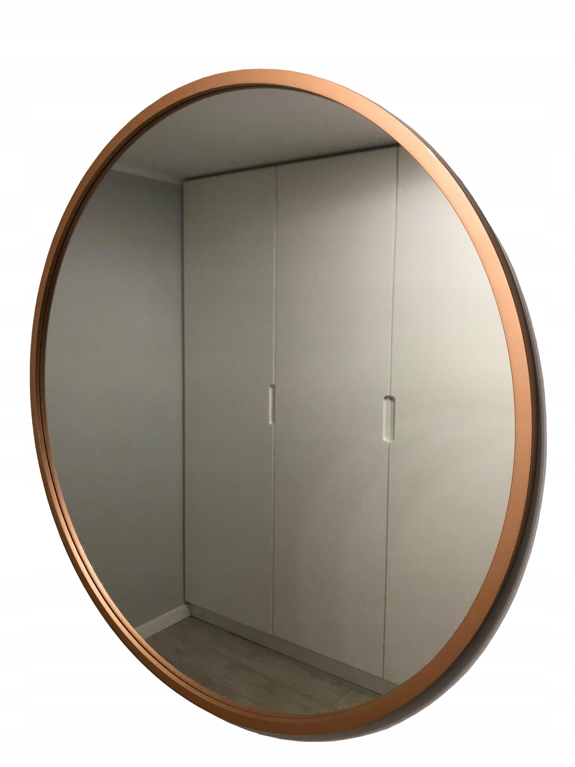 Зеркало круглое 80 см, медь GLOSS