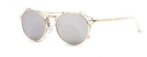 SteamPunk okuliare Vintage Retro zlaté - 2
