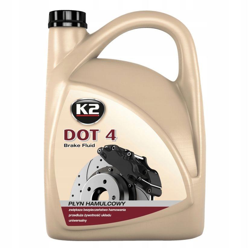 K2 DOT 4 DOT 4 Тормозная жидкость 5 л