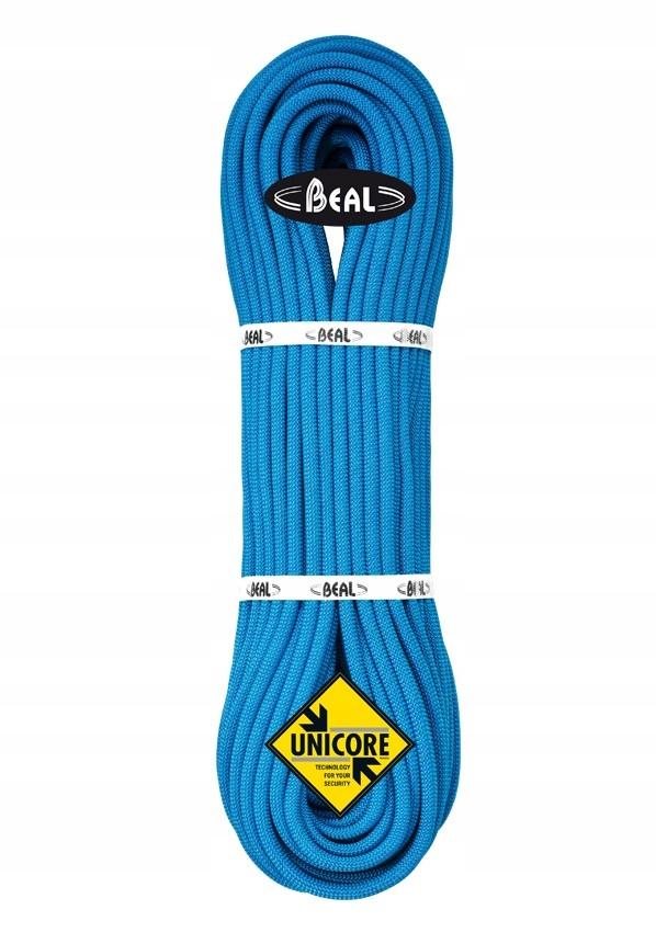 Dynamické lano Beal JOKER 9,1 Suché Kryt 60m/ Modrá