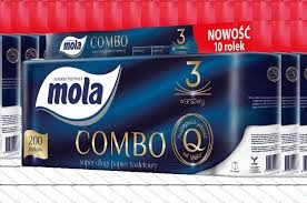 Туалетная бумага Mola КОМБО 10 роликов 3 многоуровневая