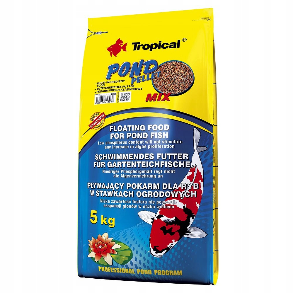 TROPICAL Pellet Mix 5kg pływający pokarm dla ryb