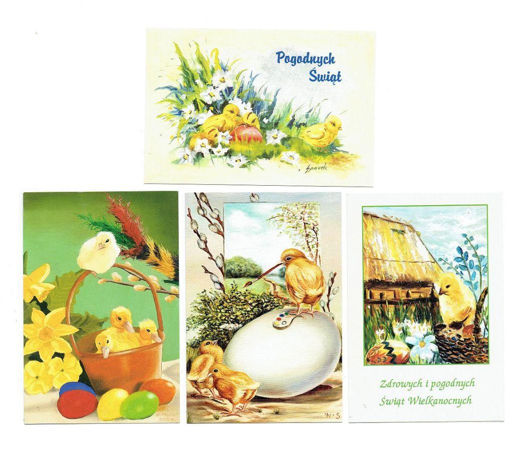 Kartki na Wielkanoc Święta Wielkanocne kurczaczki