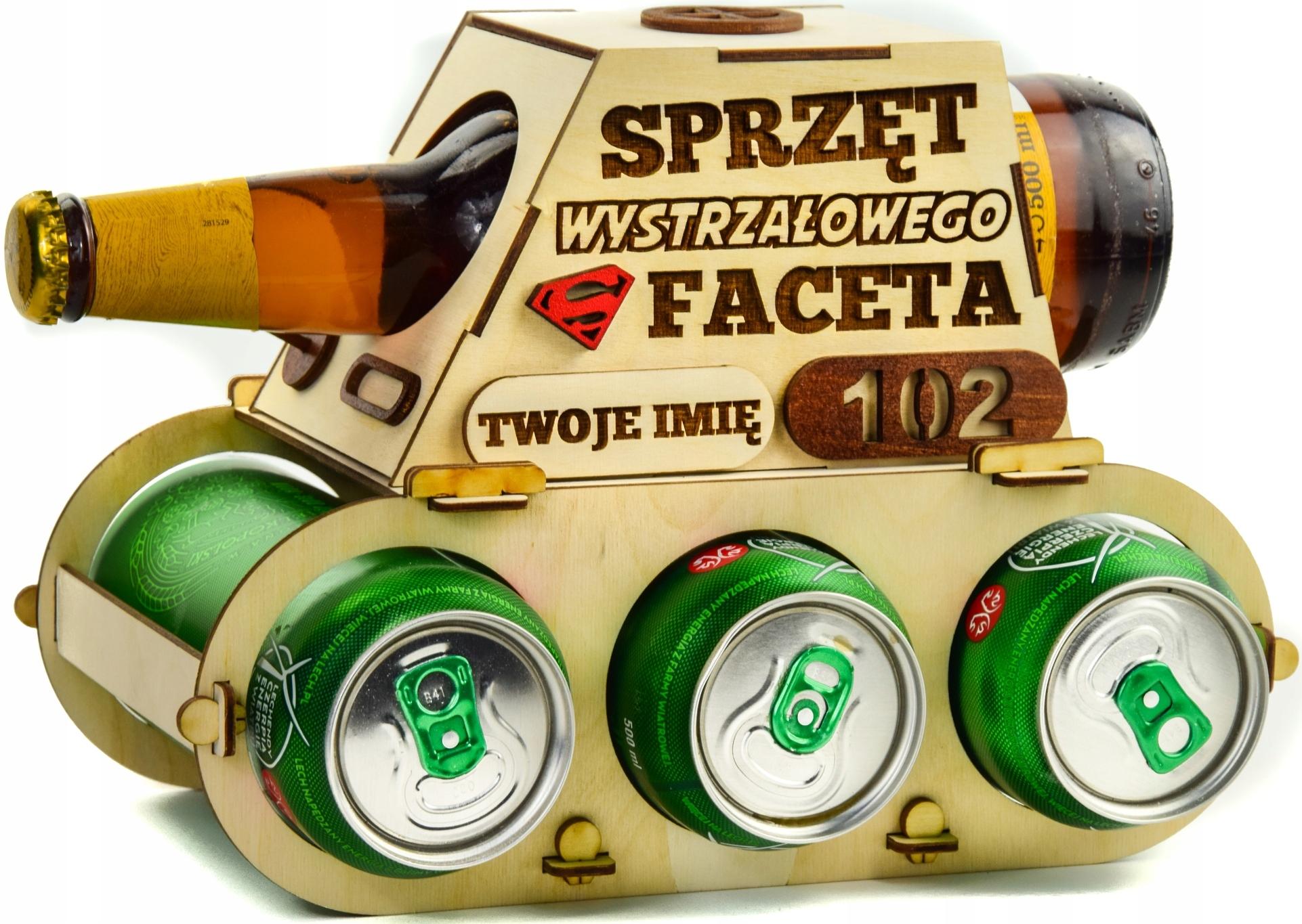 Czołg na Piwo alkohol Prezent Urodziny skrzynka 18