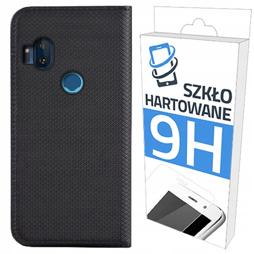 Etui Smart Magnet + Szkło do Motorola One Hyper