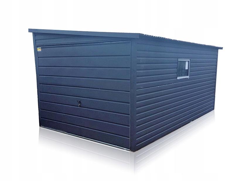 Garaż blaszany akrylowy 3x5 garaże z bramą uchylną