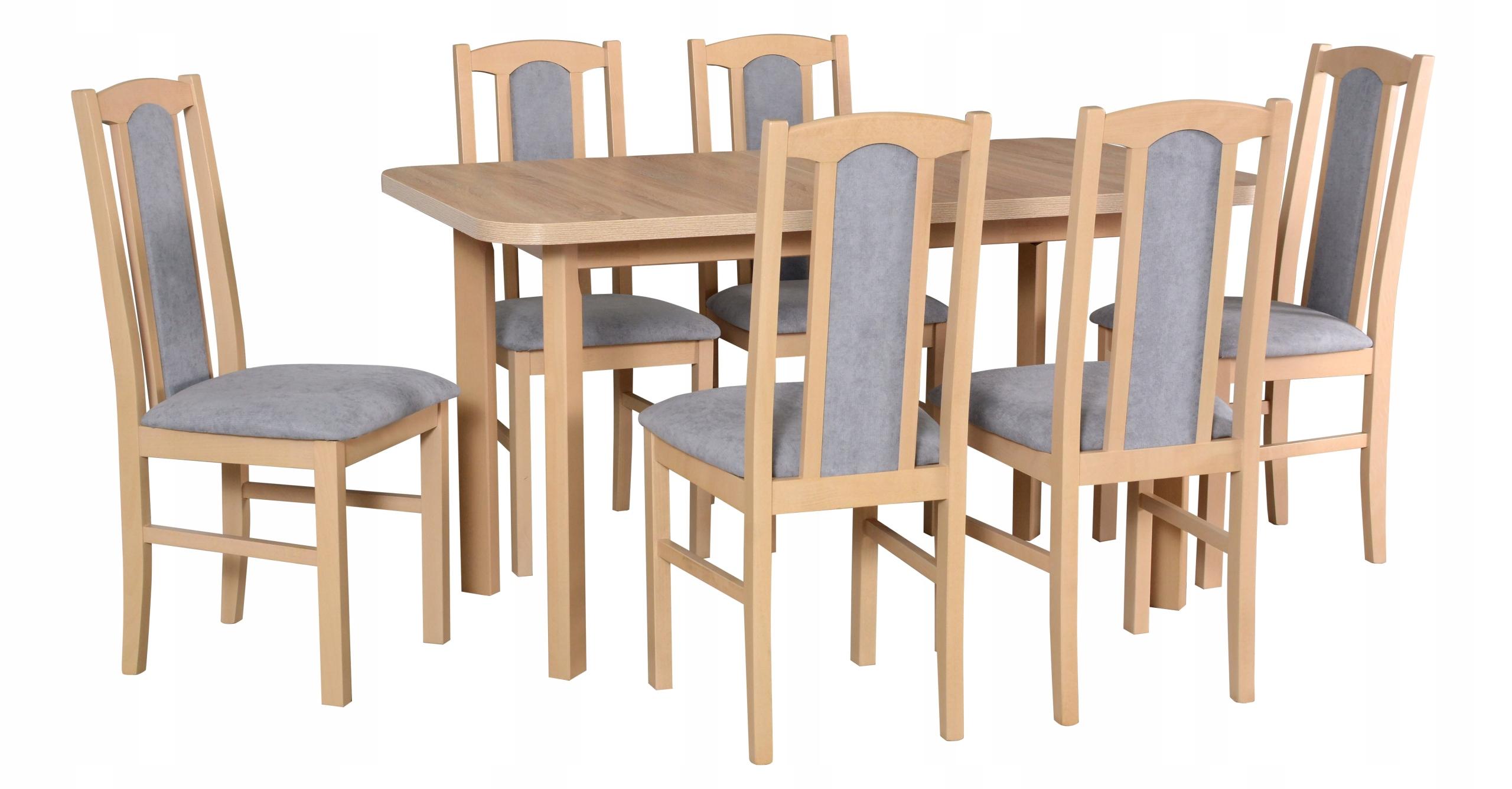 Zestaw STÓŁ rozkładany do jadalni 140 + 6 krzeseł