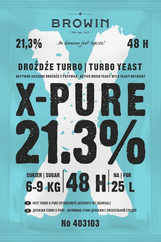 X-PURE 48 TURBO PURE 21,3% ДРОЖЖИ 25 Л