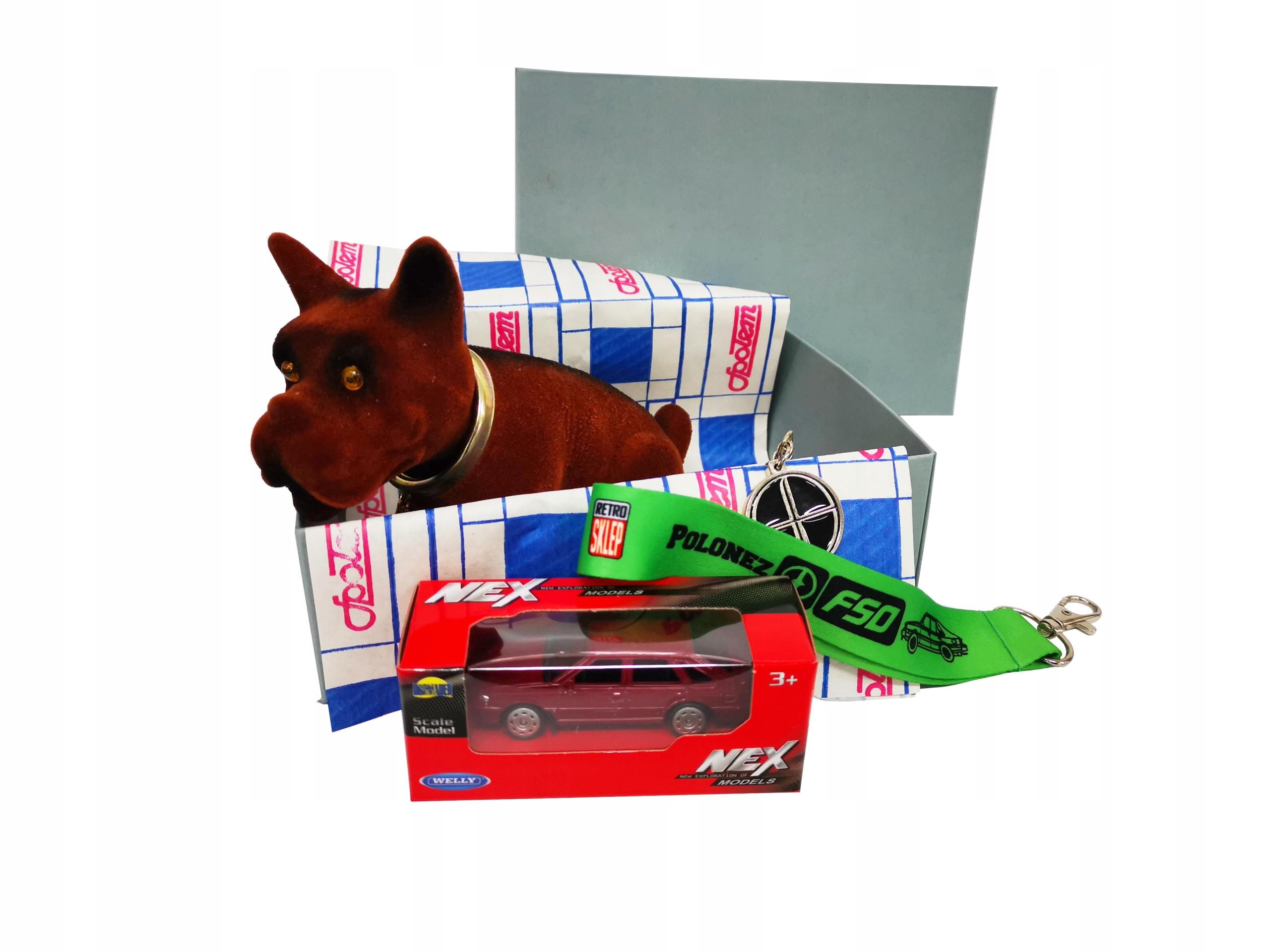 Retro BOX darček POLONEZ FSO pes + vychytávky