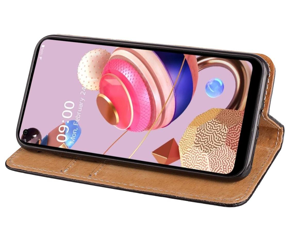Etui do LG K41S LG K51S Skórzane Magnet + Szkło 9H Producent INNY