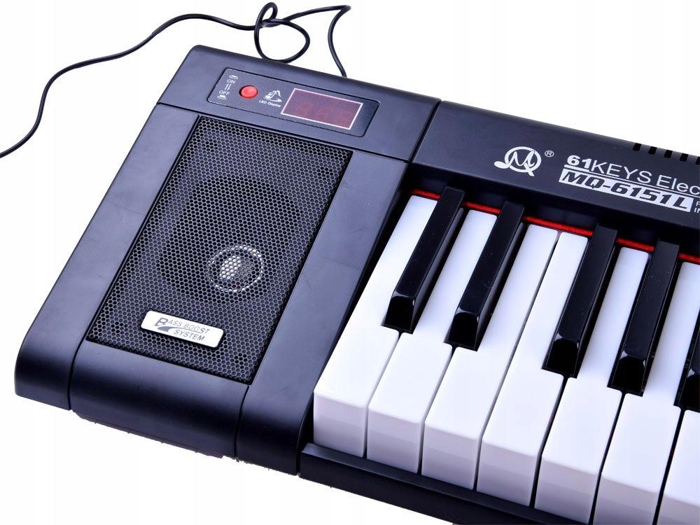 Organy MQ6151L 61 podświetlane klawisze IN0124 Płeć Chłopcy Dziewczynki