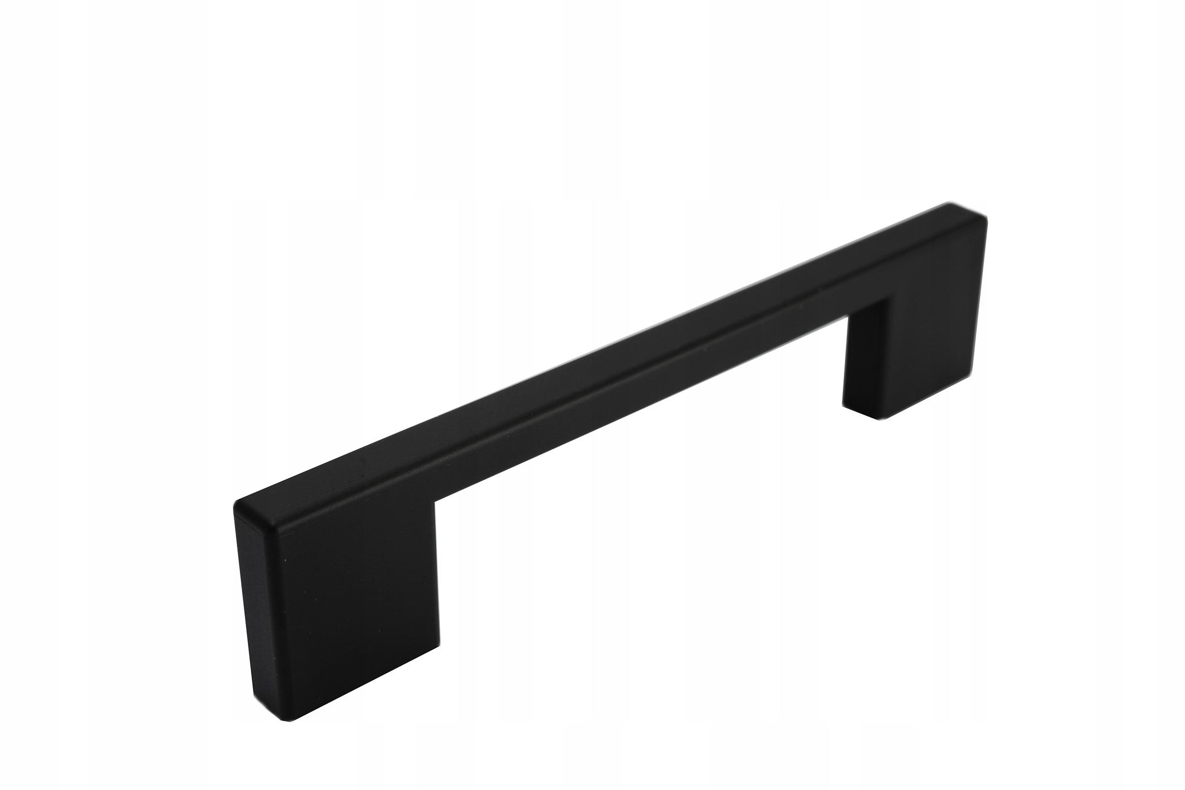 Ручка мебельная CLP L-137 чёрная матовая, шаг 96/128