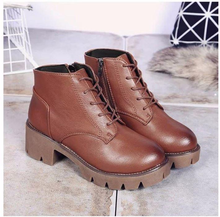 Čierne hnedé módne retro členkové topánky 38