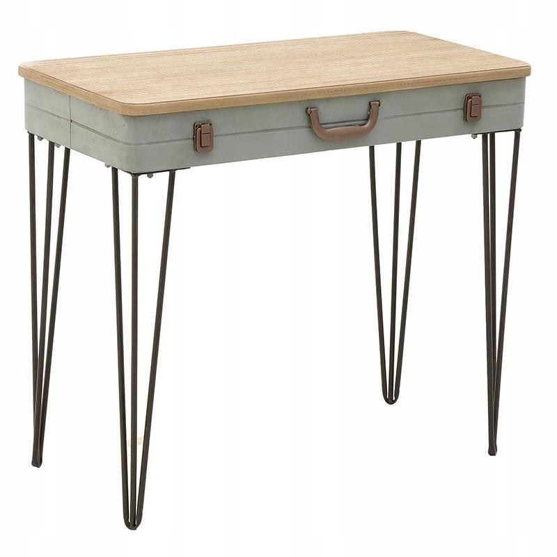 24h konzola Retro vintage stôl Dizajnový kufor
