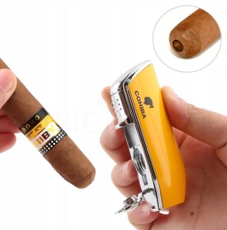 Зажигалка COHIBA + резак для сигар В ПОДАРОК!