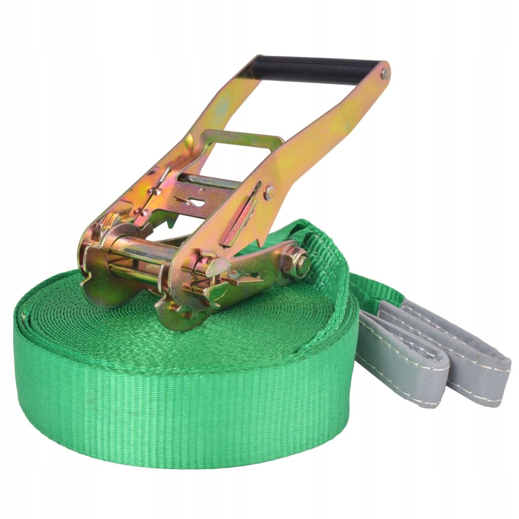 Slackline páska, 15m x 50mm, zelená
