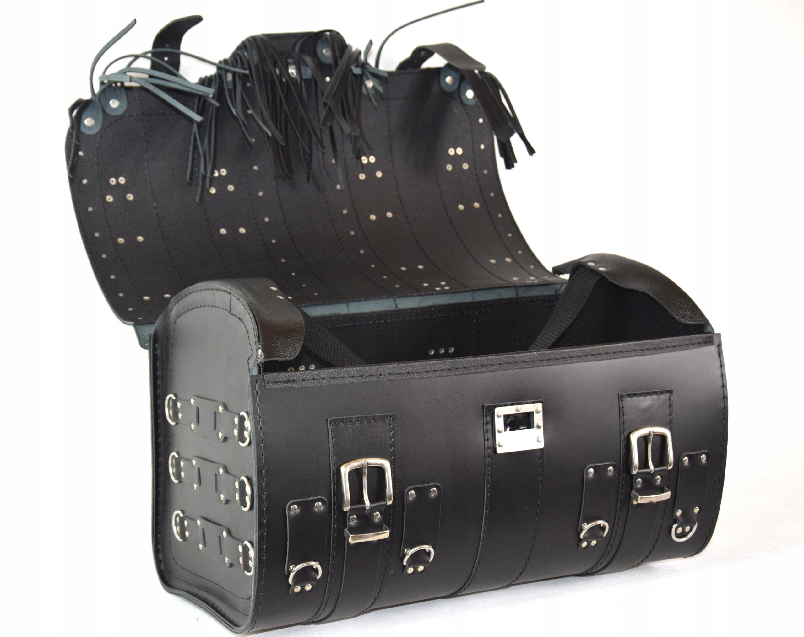 Skórzany kufer z zamkiem SAKO tylni kufer K15