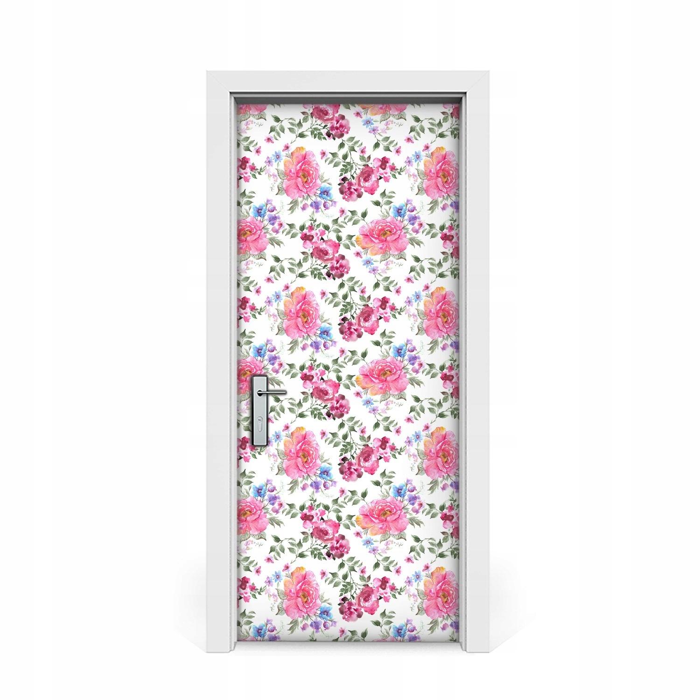 Dyha nálepky dvere Krásne ruže Vintage 85x205