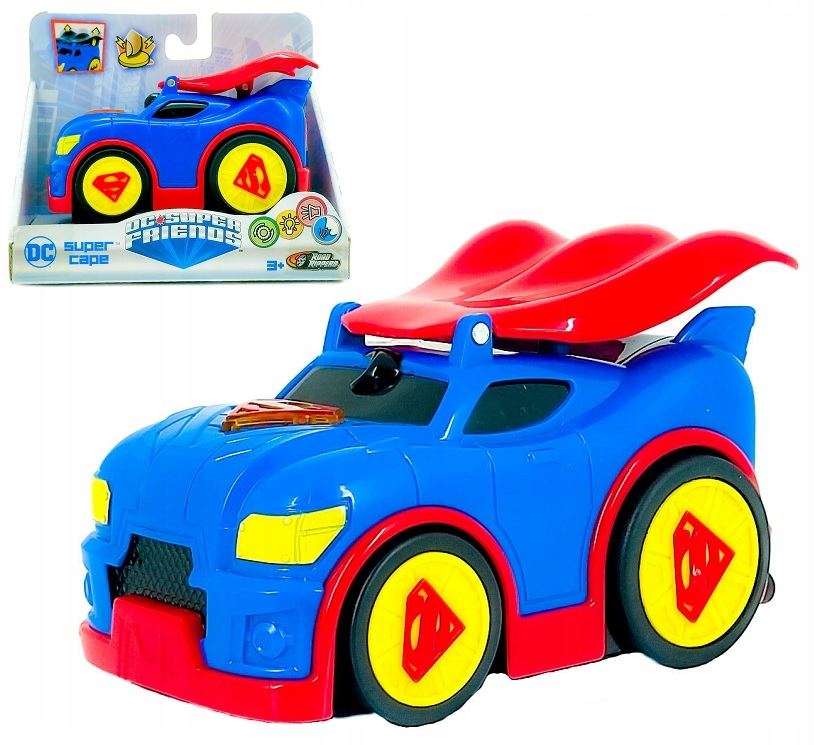 SUPERMAN AUTO ŚWIATŁO DŹWIĘK NAPĘD DC SUPER CAPE