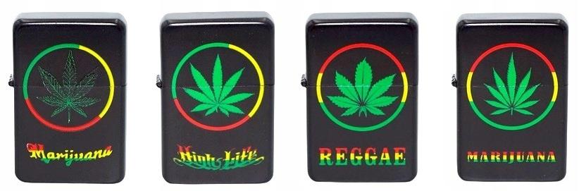 Бензиновая зажигалка лист марихуаны High LIFE тип бензина