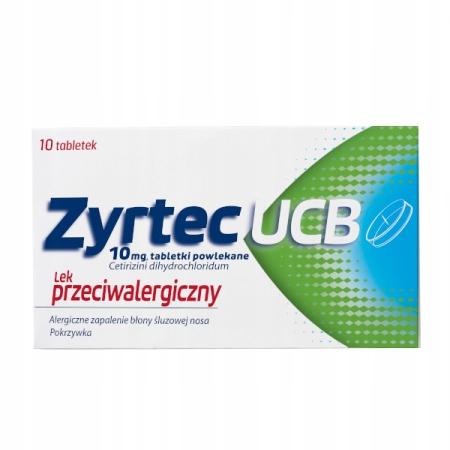 Zyrtec UCB 10 mg, 10 tabletek alergia uczulenie