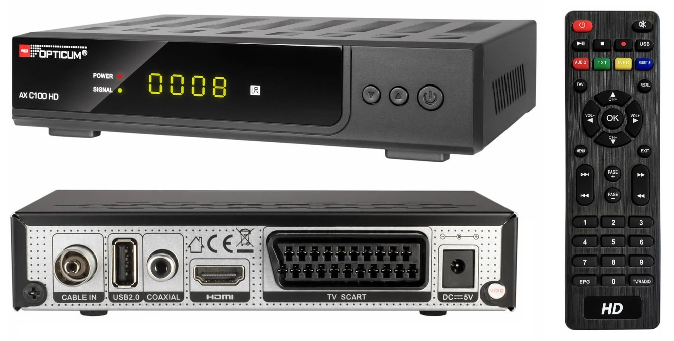 Tuner Dekoder Opticum C100 TV Kablowej DVB-C MPEG4 7736816445 - Sklep internetowy AGD, RTV, telefony, laptopy - Allegro.pl