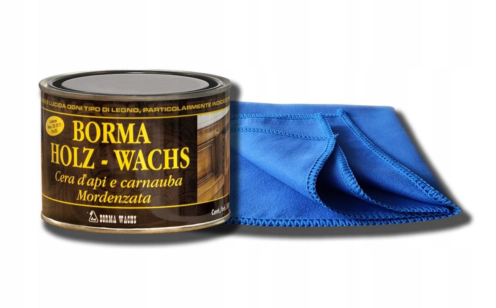 WOSK DO DREWNA naturalny wosk do mebli + SZMATKA