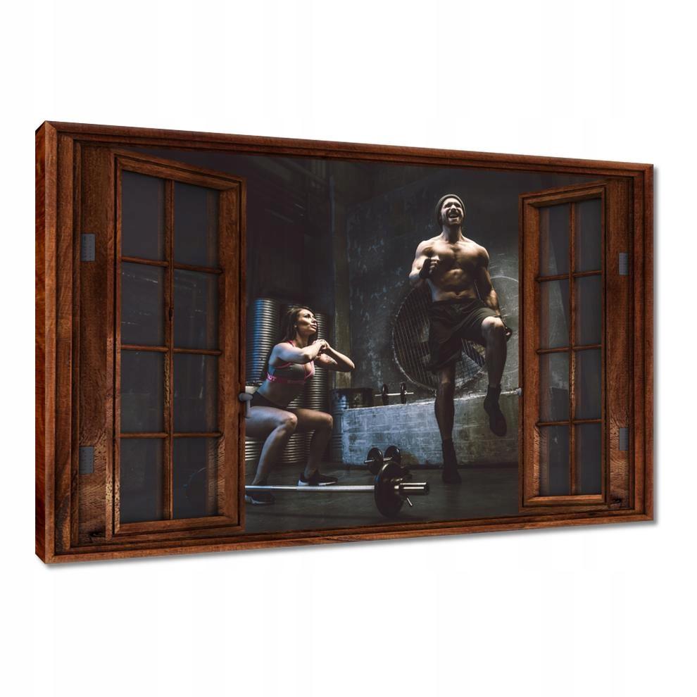Obrazy 120x80 Domowa siłownia Lockdown