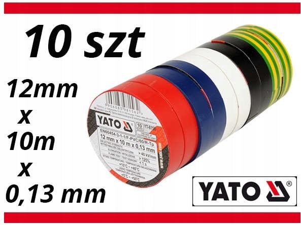 INSULATING TAPES YATO 12mmx10mmx0.13 мм 10 штук