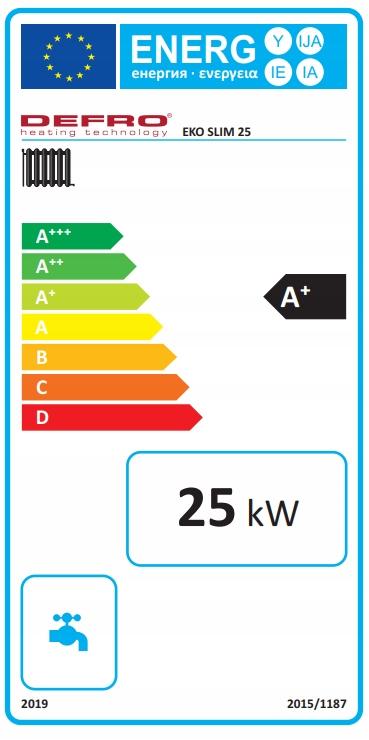 KOCIOŁ DEFRO EKO SLIM 25 kW ECODESIGN 5 KLASA Kod produktu KCO-ES-25