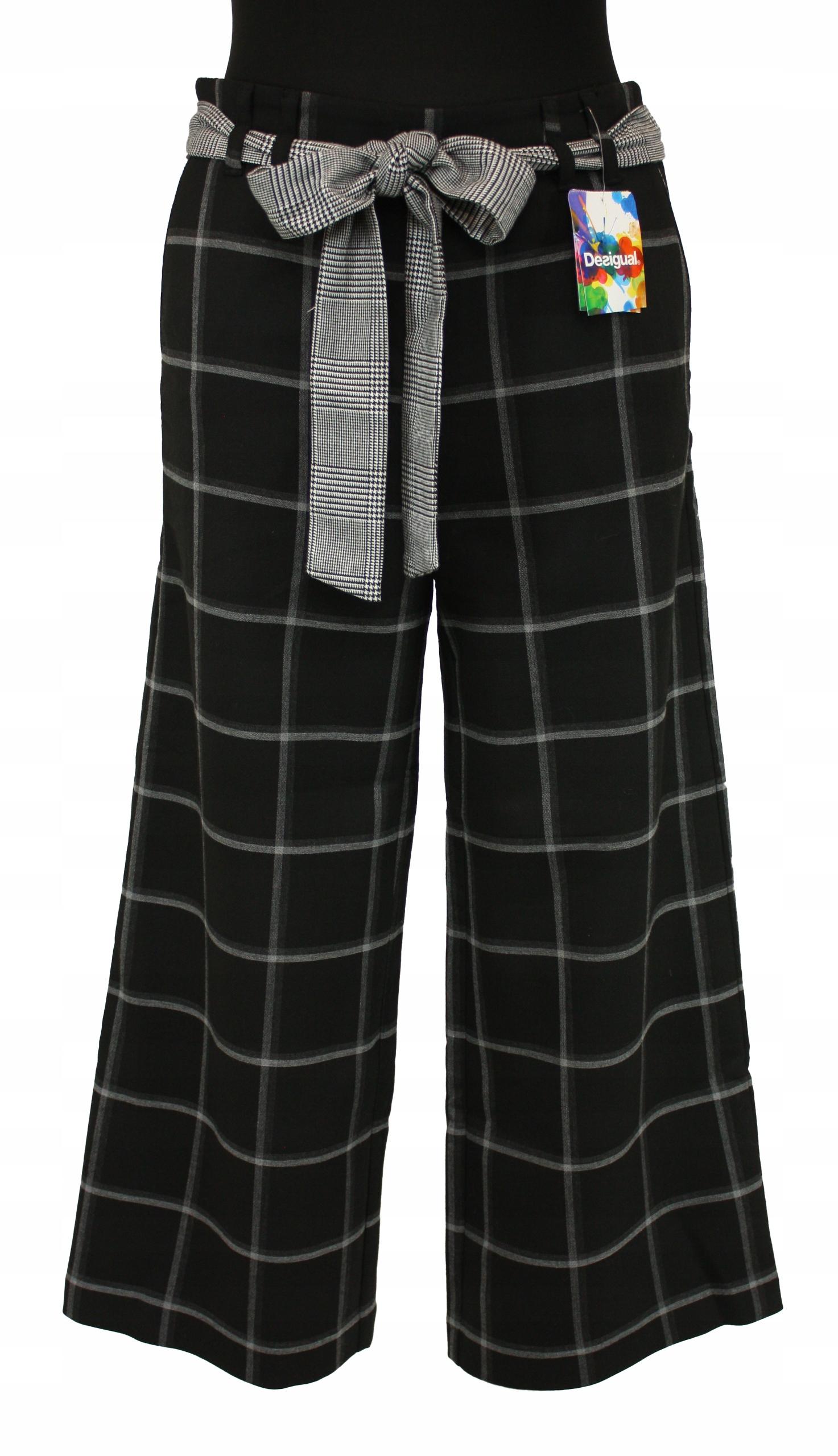 Dámske culotte nohavice DESIGUAL retro viskóza 34