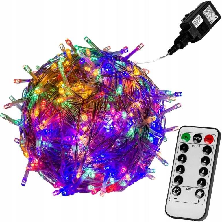 Slávnostné LED osvetlenie - 10 m, 100 LED, farebné