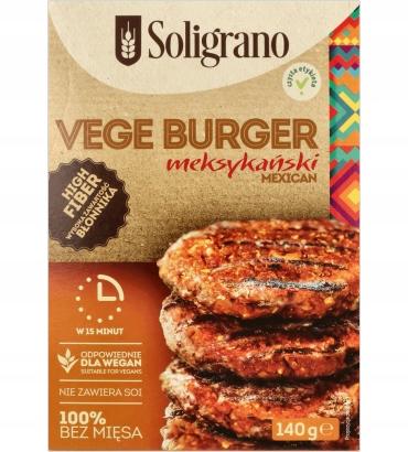Vege Burger meksykański 140 g Soligrano
