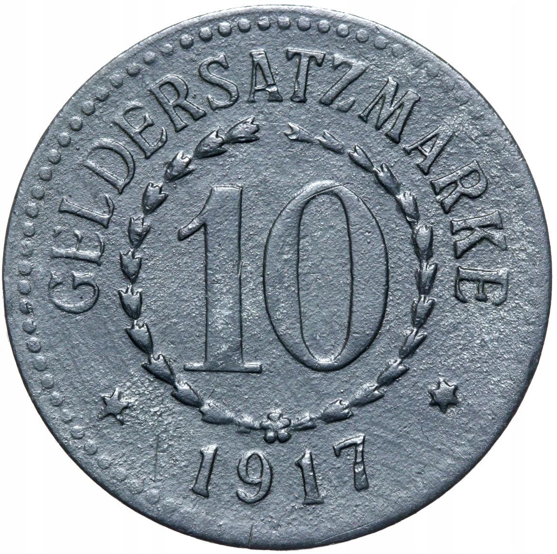 + Posen - Poznań - Notgeld - 10 Pfennig 1917 Zinok