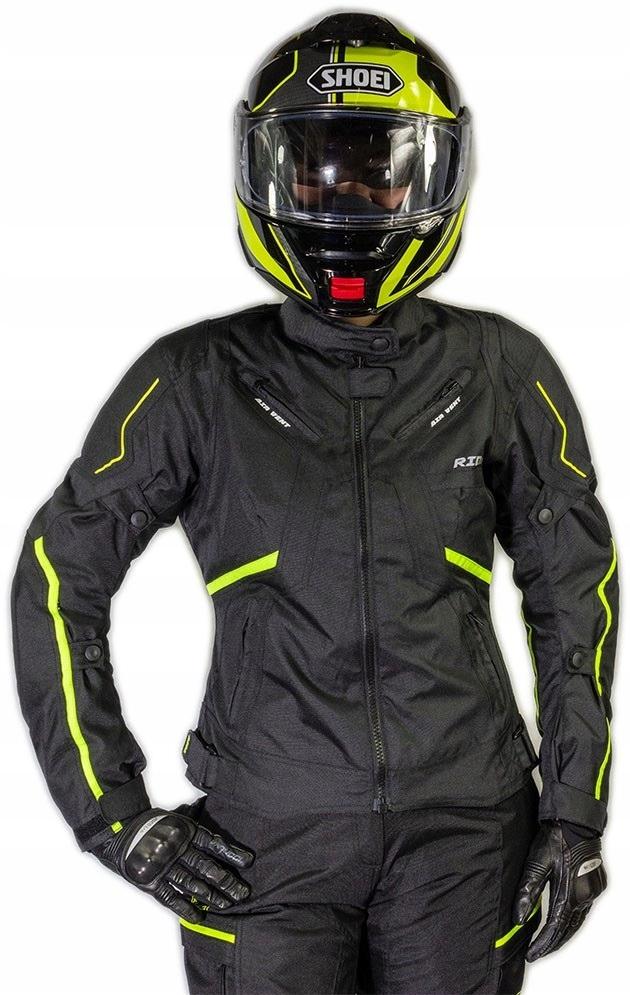Кожанная куртка мотоциклетная женская lady sportowa, фото 3