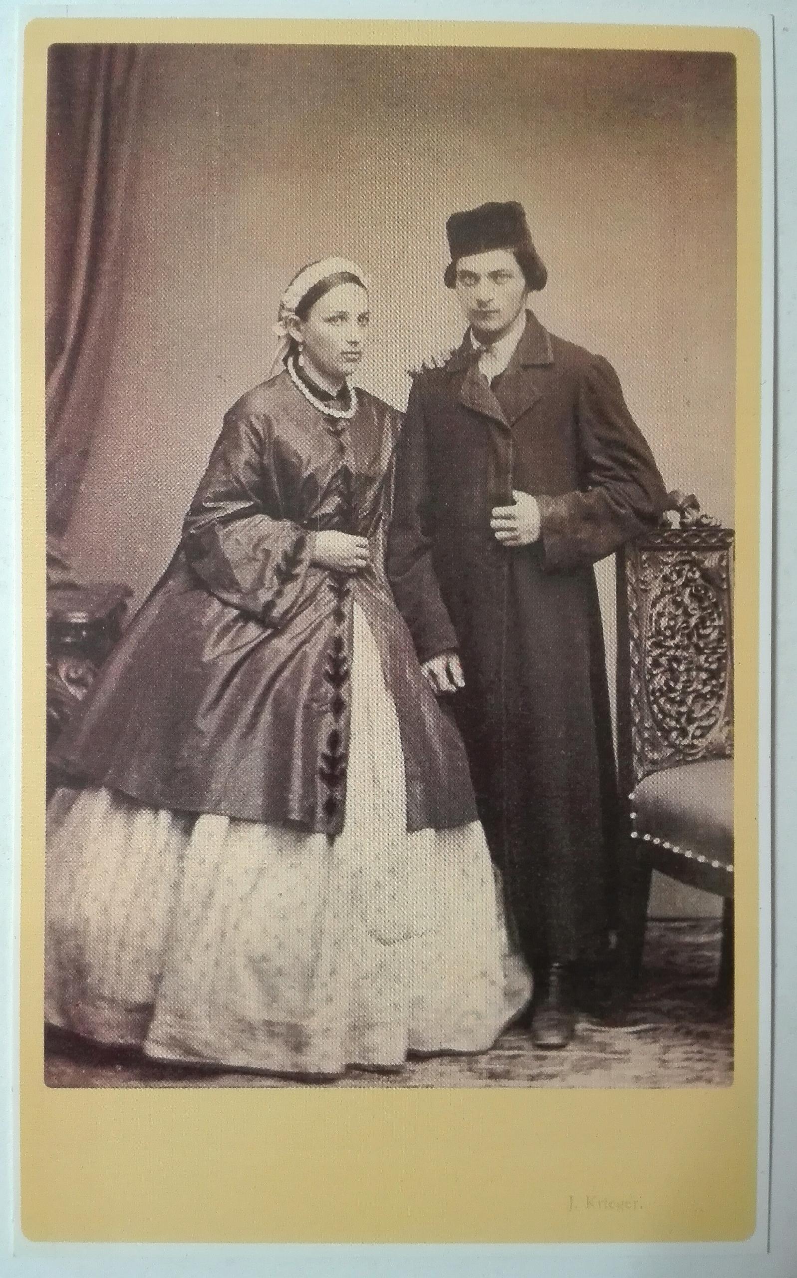 pocztówka Żydzi młode małżeństwo Krieger 1860 SPK