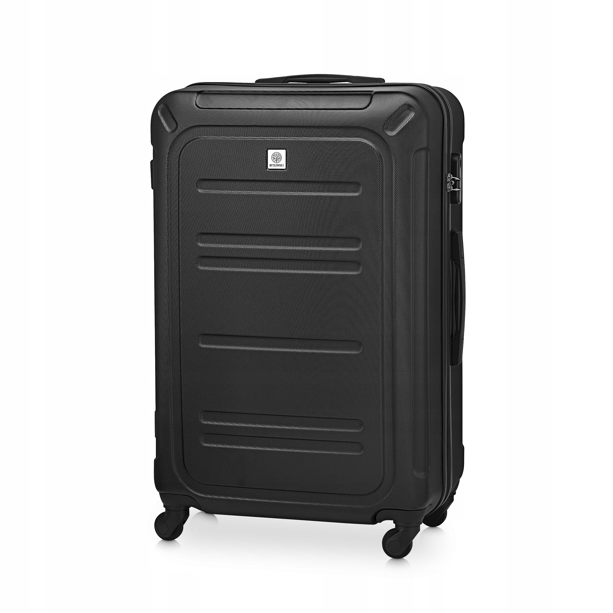 BETLEWSKI Duża walizka bagaż podróżny na 4 kółkach