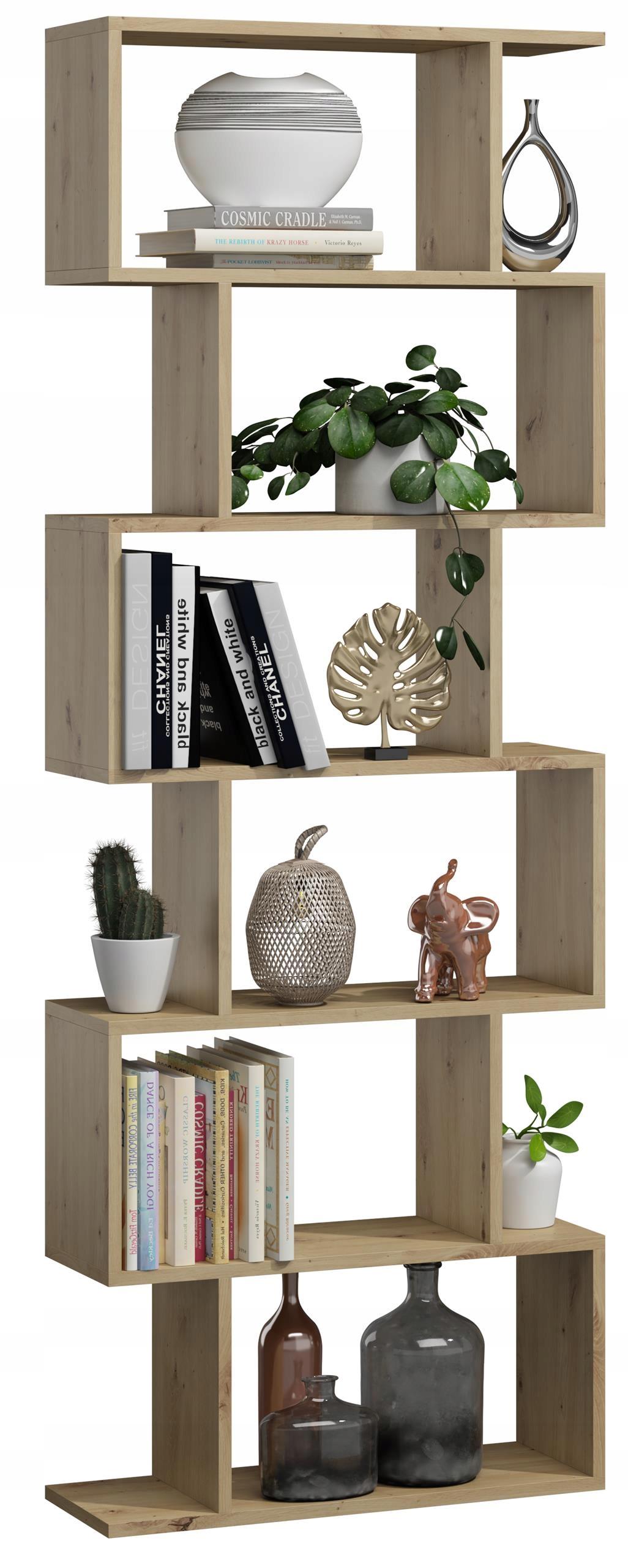 Книжный шкаф BASK MAX artisan oak открытая полка для шкафа