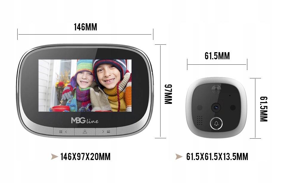 WIZJER LCD ZDJĘCIA DZWONEK JUDASZ CZUJNIK RUCHU HD Kod produktu SF550