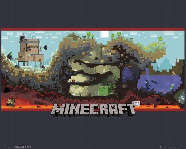 Купить Minecraft Underground Плакат на стене 50x40 SALE! на Otpravka - цены и фото - доставка из Польши и стран Европы в Украину.