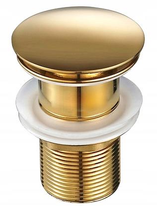 CLICK CLACK GOLD заглушка для умывальника без перелива