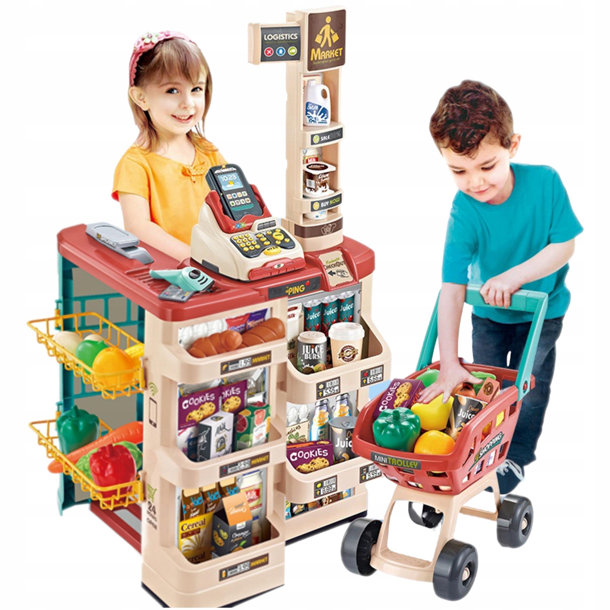 Supermarket wózek na zakupy kasa czytnik 668-78 Materiał Plastik Inny