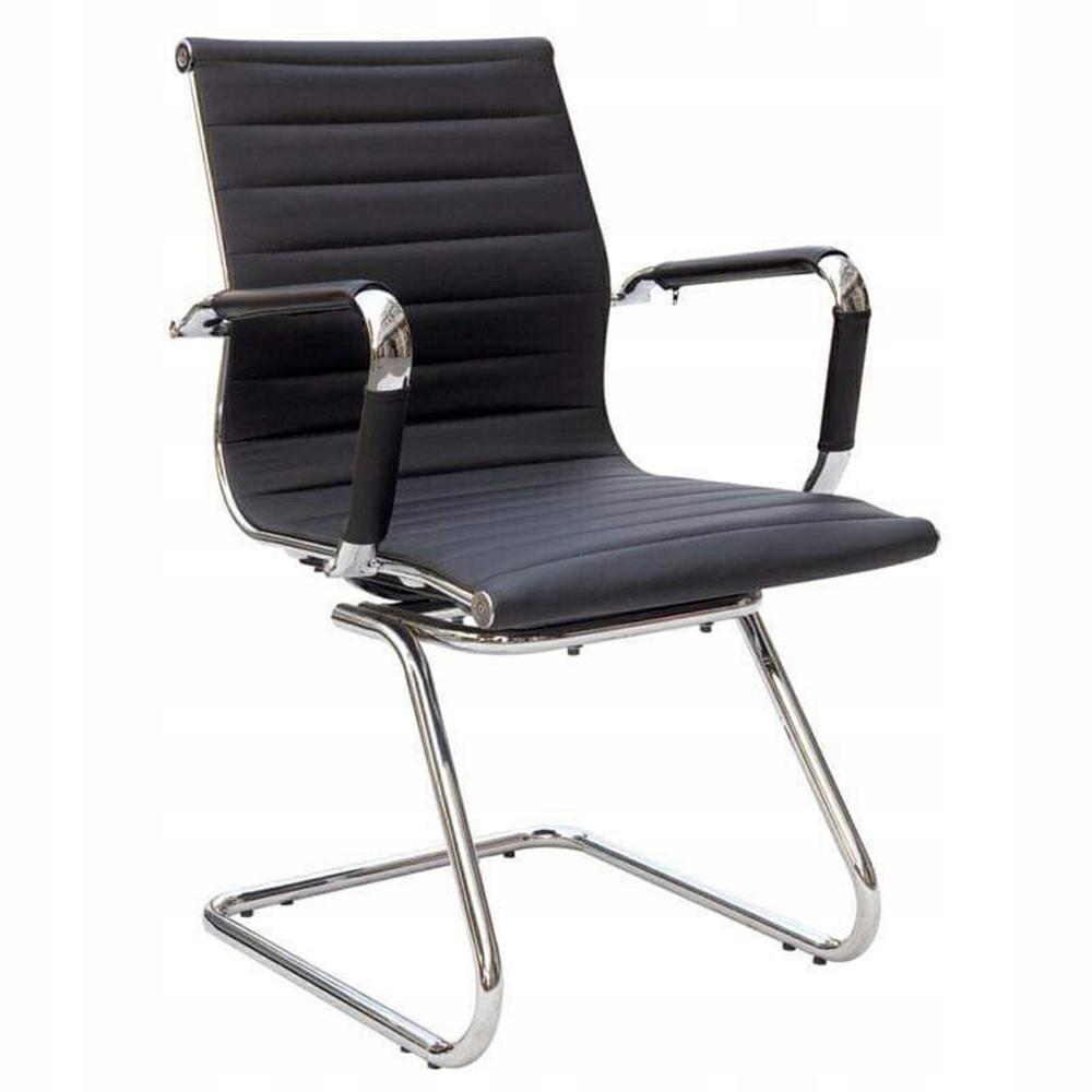 MODESTO stolička ERGO SQUID čierna, koženka