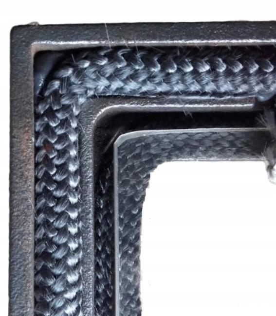 Стеклянный трос графитового цвета, диаметр 8 мм, 1 метр