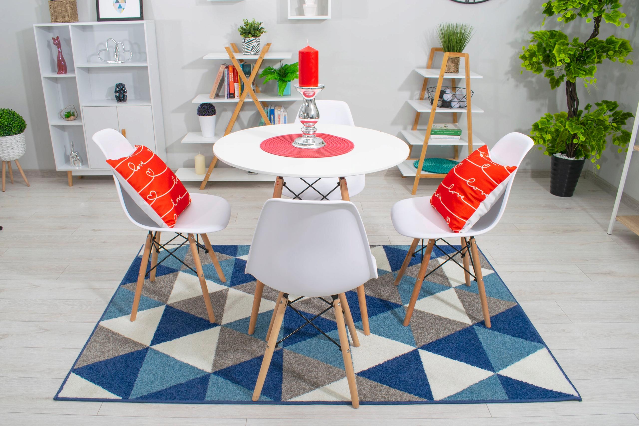 Stół + 4 Krzesła Nowoczesny Skandynawski Styl DSW Kolor korpusu krzesła buk jasny