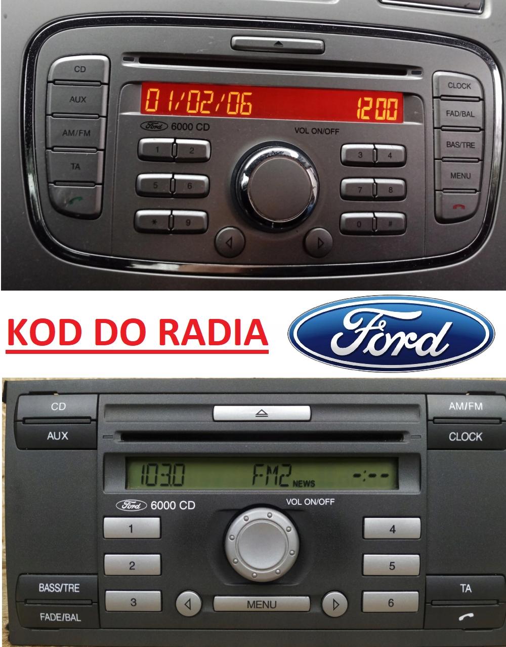 код к радио генератор ford focus mondeo fiesta