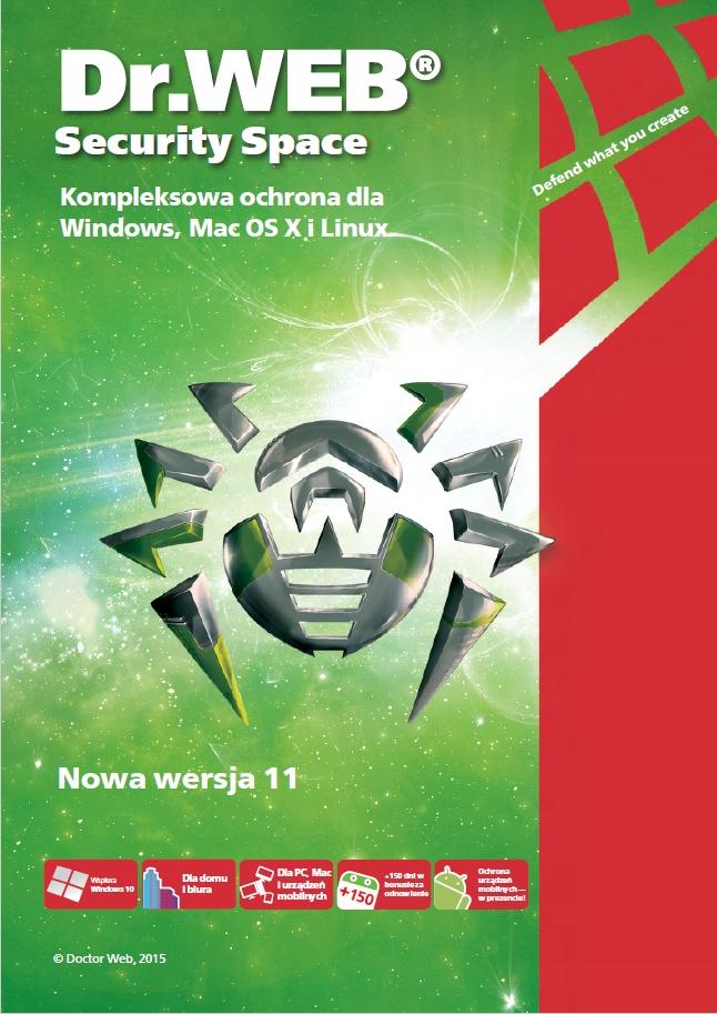 Acronis True Image 2021 + Dr.Web Antivirus 1PC Liczba stanowisk 1