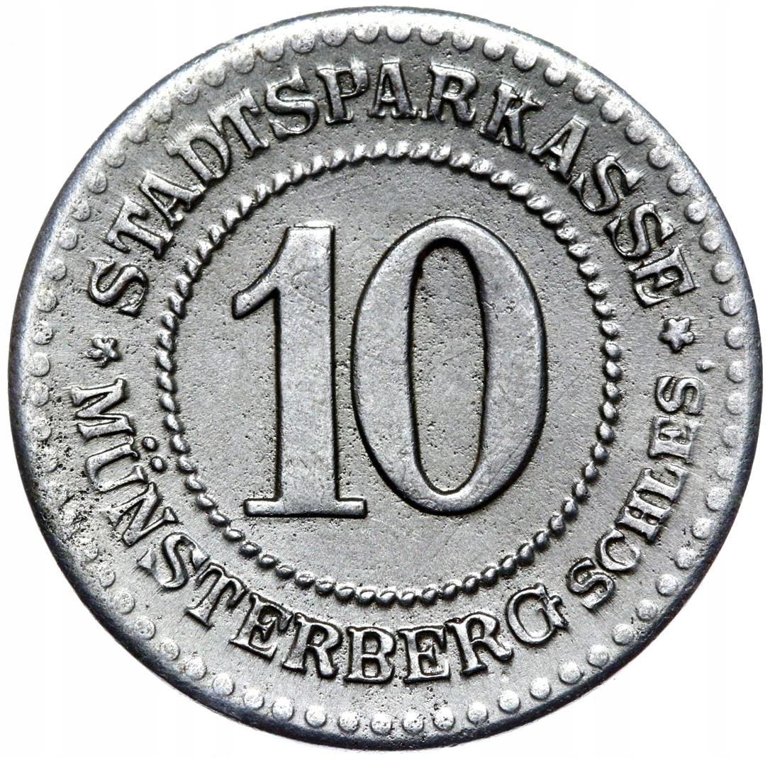 + Munsterberg - Ziębice - 10 Pfennig 1918 - Žehlička